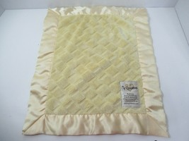 My blankee baby lovey small textured Security Blanket yellow satin trim ... - $14.84
