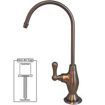 PURETECK Euro Style Non-Airgap Candy Cane RO Faucet - Brushed Nickel - $65.50