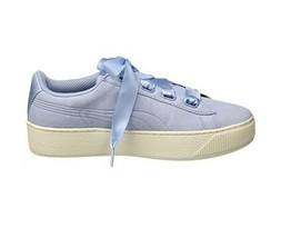 Puma Aux Femmes Vikky Platform Ribbon S 366418 04 Baskets Cerulean Bleue... - $66.77