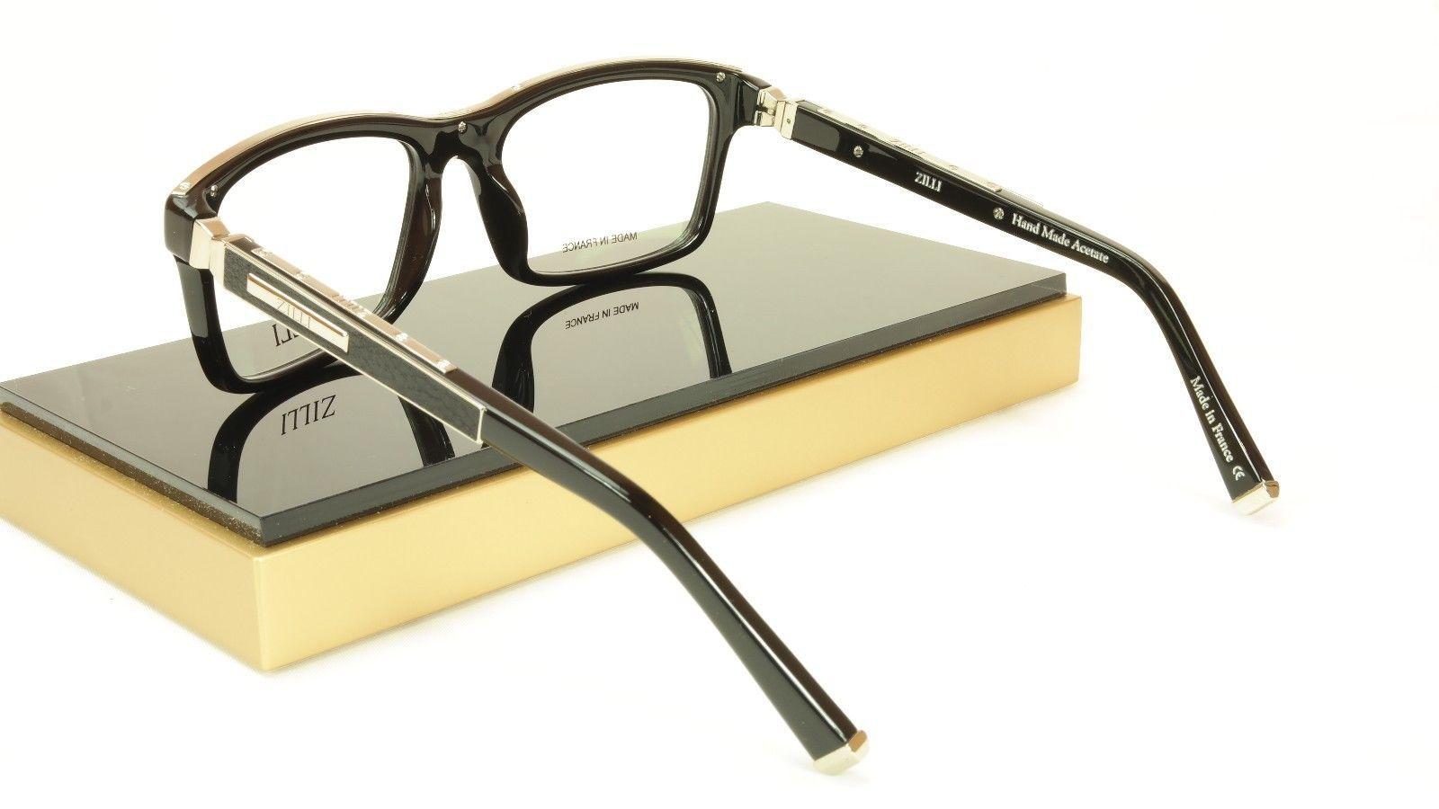 2c5965b497f ZILLI Eyeglasses Frame Acetate Leather Titanium France Hand Made ZI 60001  C03