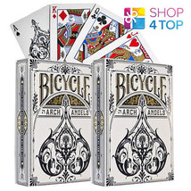 2 DECKS OF BICYCLE ARCHANGELS PLAYING CARDS MAGIC TRICK BY THEORY 11 MAD... - $19.30
