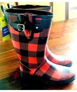 WESTERN CHIEF Womens Tall Rain Boot, Red Buffalo Gal, Sz 9 Sm. Manuf. Fl... - $25.19