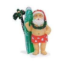 Island Heritage Hawaiian Surfing Santa & Surfboard Ornament - $15.79
