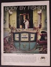 "1965 Body By Fisher Print Ad Cinderella ""Join the Carriage Trade in '66"" GM - $12.95"