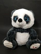Inter-American toys plush panda dark gray white red heart ribbed feet bl... - $12.86