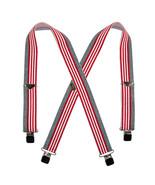 New Welch Men's Elastic American Flag Clip End Suspenders - $18.55