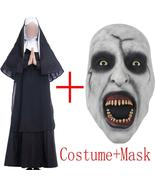 Movie The Nun Costume Mask Cosplay Adult Long Black Scary Nuns Ghost Clo... - $30.59+