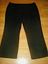 GLORIA VANDERBILT  PERFECT FIT BLACK STRETCH STRAIGHT LEG PANTS SIZE 18s - $17.41