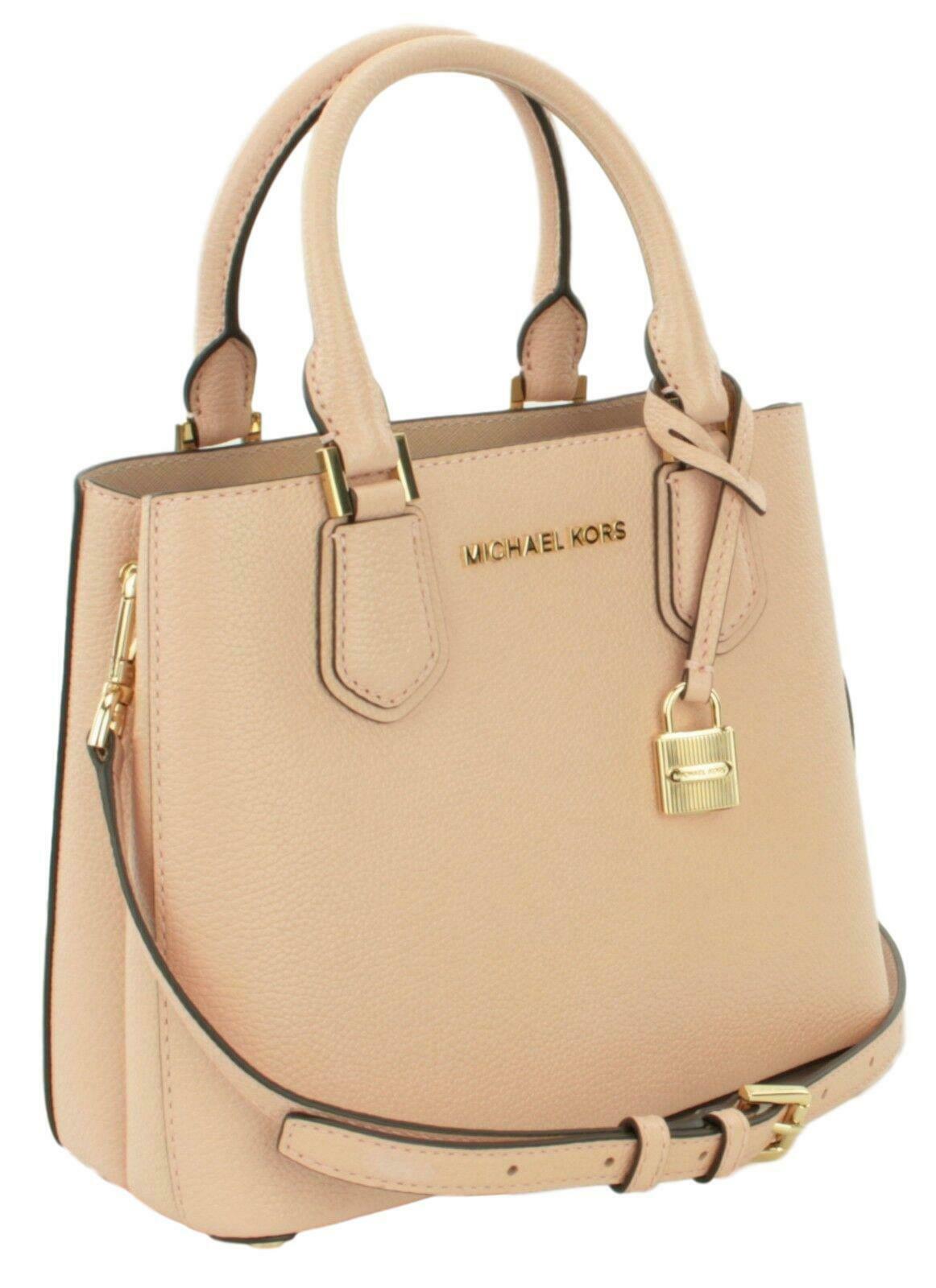 Michael Kors Adele Pastel Pink Leather Shoulder Messenger Bag Handbag image 2