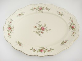 "Rosenthal Antoinette Moss Rose 15"" Oval Platter Pompadour Shape Mint Con... - $39.59"