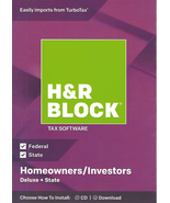 H&R Block Tax Software Deluxe+State 2018 NEW - $12.99