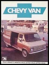 1976 Chevrolet Chevy Van Brochure G10 G20 G30 - $7.40