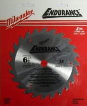 "Milwaukee 48-40-4108 6-1/2"" x 24 ATB Saw Blade Carded - $5.94"