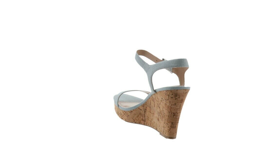 Charles David Lindy Platform Wedge Sandal LIGHT BLUE 10 NEW 591-723