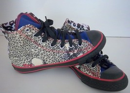 Converse - Kids All Star Hi Top Chuck Taylor Black/Blue/Red Design - Size 3 - $19.99