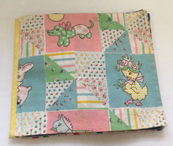 vintage hand sewn  baby toddler cloth activiy book nursery decor vintage... - $15.84
