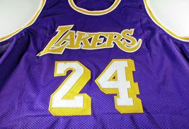 KOBE BRYANT / NBA HALL OF FAME / AUTOGRAPHED LAKERS PURPLE CUSTOM JERSEY / COA image 2