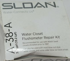 Sloan A38A Water Closet Flushometer Repair Kit Traditional Segment Diaphragm image 2