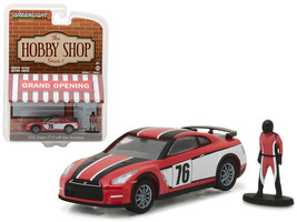 "2015 Nissan GT-R R35 Red #76 with Race Car Driver ""The Hobby Shop\"" Series 1 1/ - $12.98"