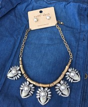 Faux Pearl Cream Acrylic Gold Necklace Set - $42.35 CAD