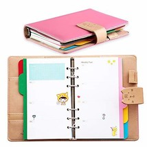 Undated Weekly Planner with Rings,Leather Cat Diary Organizer for Time M... - $43.90