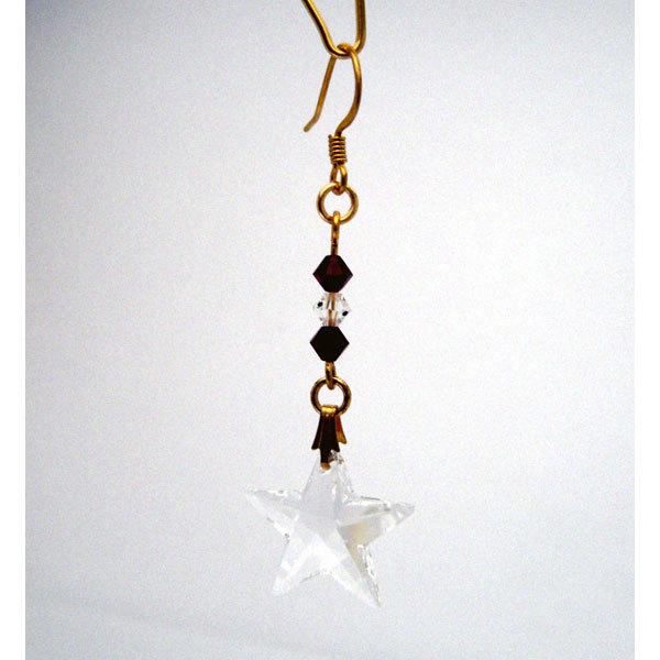 Crystal star earrings jep147 07 3