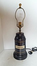 Vintage Wildwood Coffee Canister Tin Table Lamp - $92.14