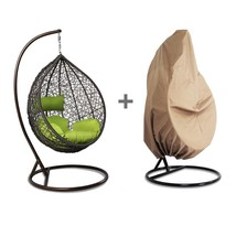 Hanging Hammock Proch Swing Chair Free Cover Outdoor Egg Chair Green Cus... - $317.99