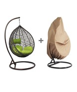 Hanging Hammock Proch Swing Chair Free Cover Outdoor Egg Chair Green Cus... - $539.08