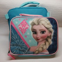 Disney Frozen Elsa Lunch Box Bag Soft Shimmering Insulated Pink Handle - $11.93