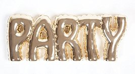 "8 Oak Lane Gold ""Party"" Resin Letters Tabletop Decoration"