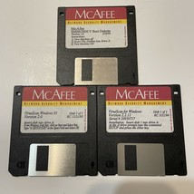 """McAfee Virus Scan And Book Disk 1996 / 97 Windows 95 Computer Disk 3.5"""" Floppy - $12.86"""