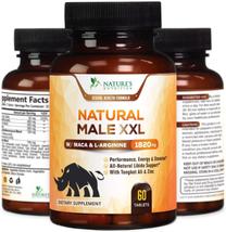 Natural Male XXL Pills - Enlargement Booster Increases Energy, Mood & En... - $22.50