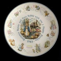 "Wedgwood Peter Rabbit 8"" Beatrix Potter 1983 Happy Birthday Plate - $24.31"