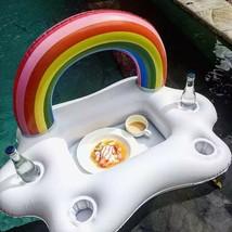 Inflatable Pool Beer Drink & Plate Holder Float ( Rainbow Cloud ) - $15.84