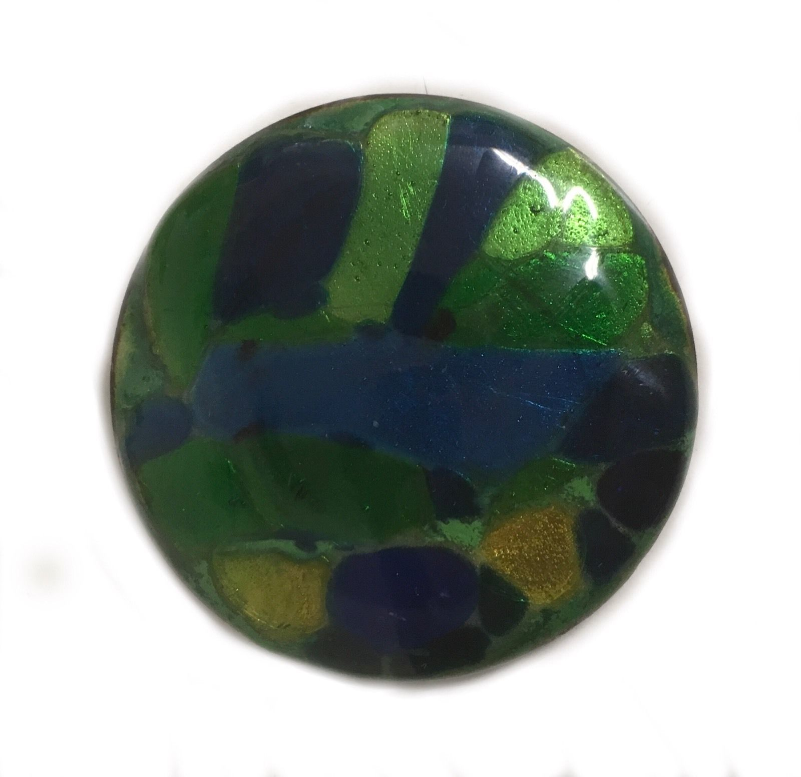 Vintage Art Glass Large Statement Piece Brooch Pin R508