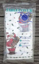 TABLE COVER TABLECLOTH CHRISTMAS SANTA CLAUS by CONTEMPO Vintage 1992 54... - $9.49