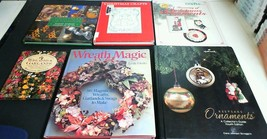 6 Books on Christmas Tree Ornaments, Christmas Reefs & Crafts - $24.70