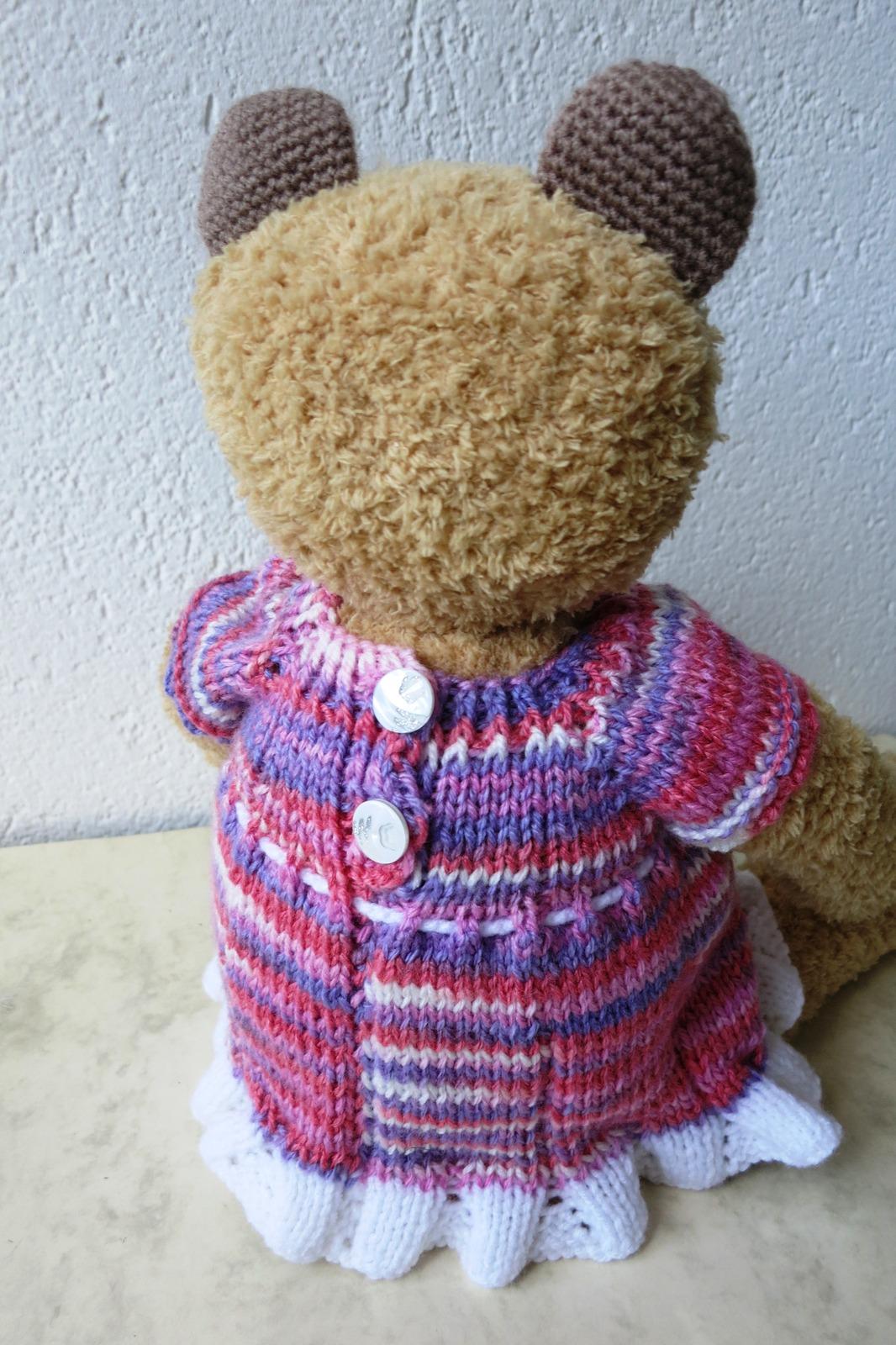 Teddy Bear Stuffed Toy Handmade- Nursery Decoration -Baby Shower Present- OOAK