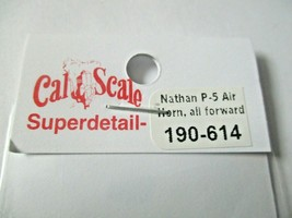 Cal Cal Scale # 190-614 Brass Nathan P-5 Air Horn All Forward 1 Pack HO Scale image 2