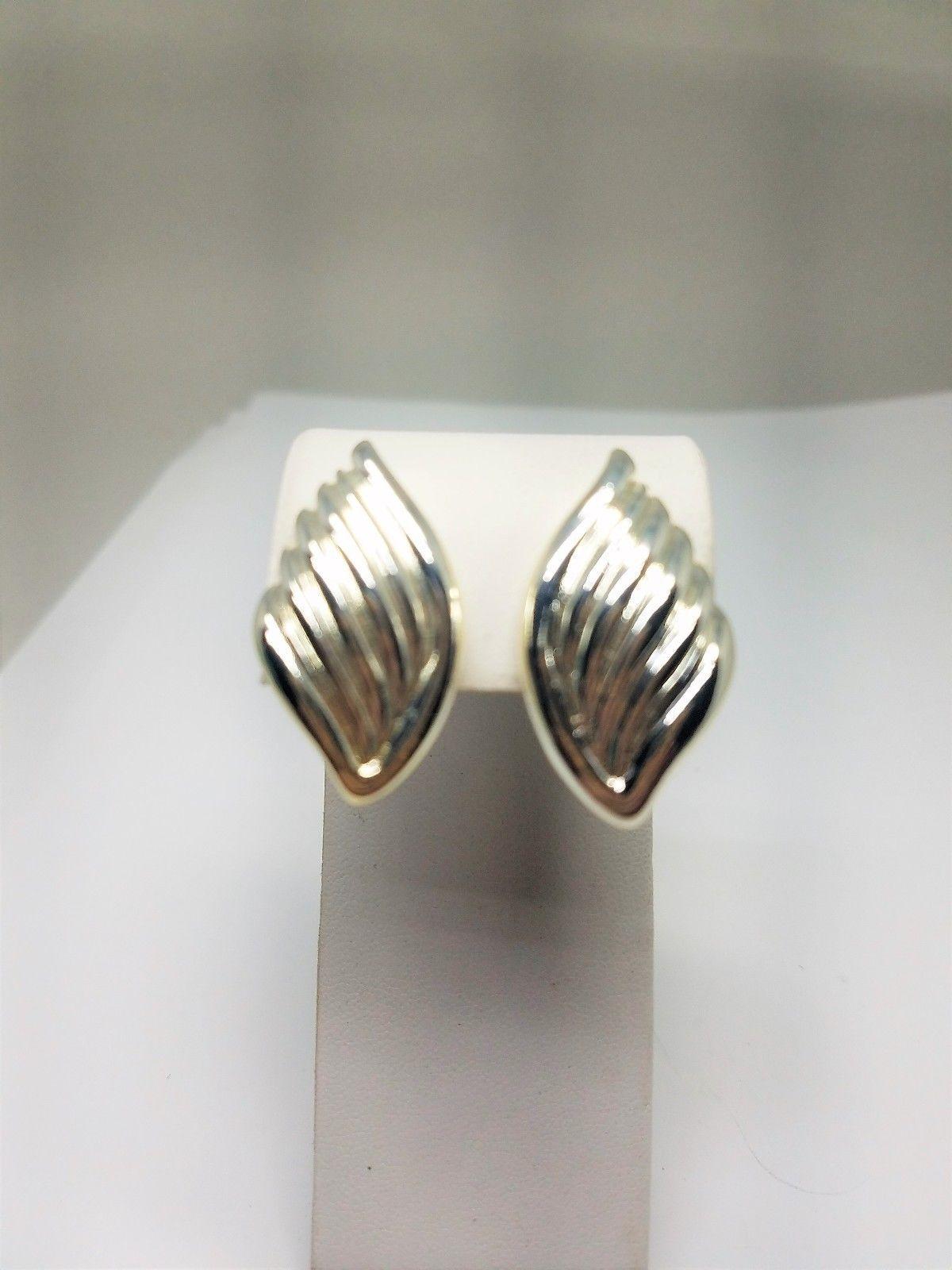Napier Vintage Silver Tone Clip On Earrings