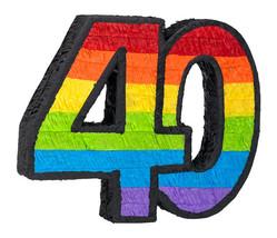 40th Birthday Pinata - $13.69