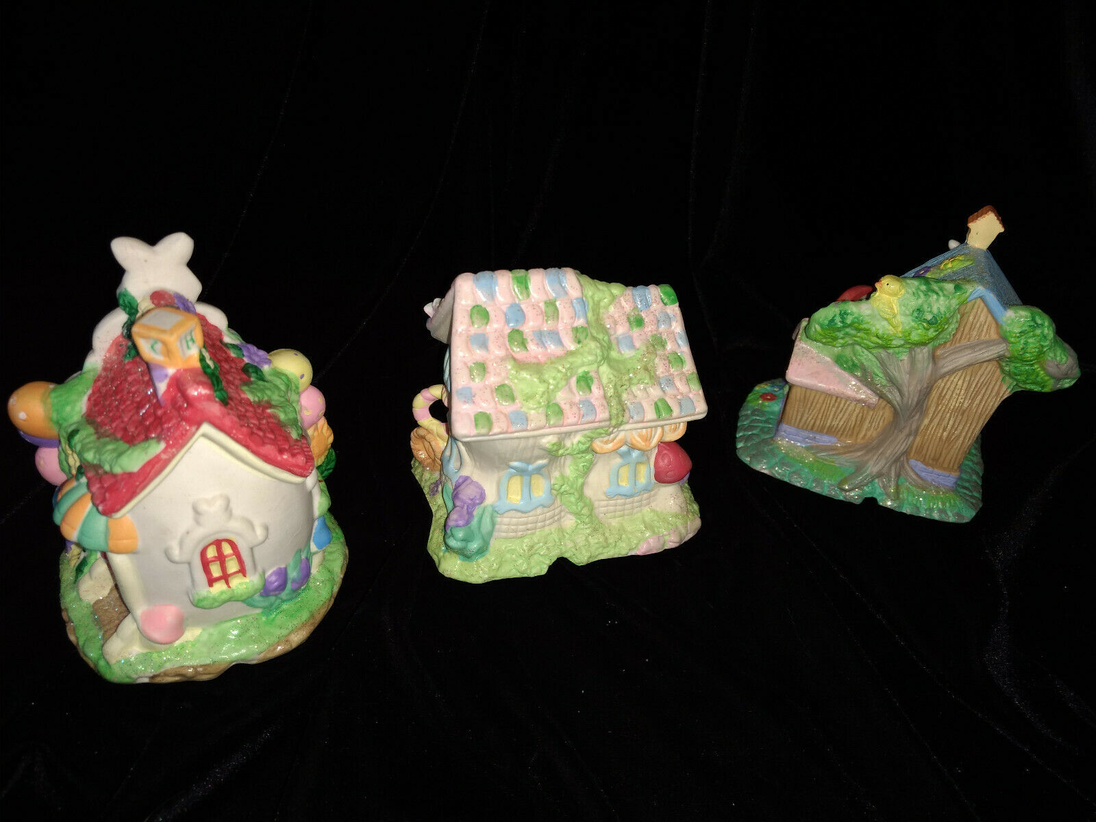 Hoppy Hollow Easter Village Ceramic Houses Set of Three (Lot #4) image 2