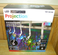 Christmas LED Light Show Multi Color Kaleidoscope Projection String of 8... - £16.95 GBP