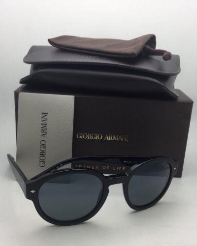 Nuovo Giorgio Armani Occhiali da Sole Adirise 8005 5001/R5 OPACO Nero su Frame
