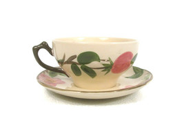 Franciscan Authentic Hand Decorated Staffordshire Rose Teacup & Saucer E... - $19.79