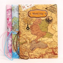 World Map Passport Holder 3D Travel Wallet Passport Cover Protector Orga... - $10.99
