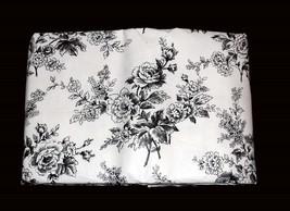 Waverly CASSANDRA Black U0026amp; White Floral Vinyl Flannel Back Tablecloth  U PIck NIP