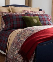 Ralph Lauren BOHEMIAN MUSE Burgundy Rug 3P Full Queen Comforter Shams Se... - $303.95