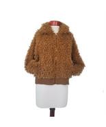 Women's Long Sleeve Zip-Up Sherpa Jacket Cognac Brown Size M from Wild F... - $16.99